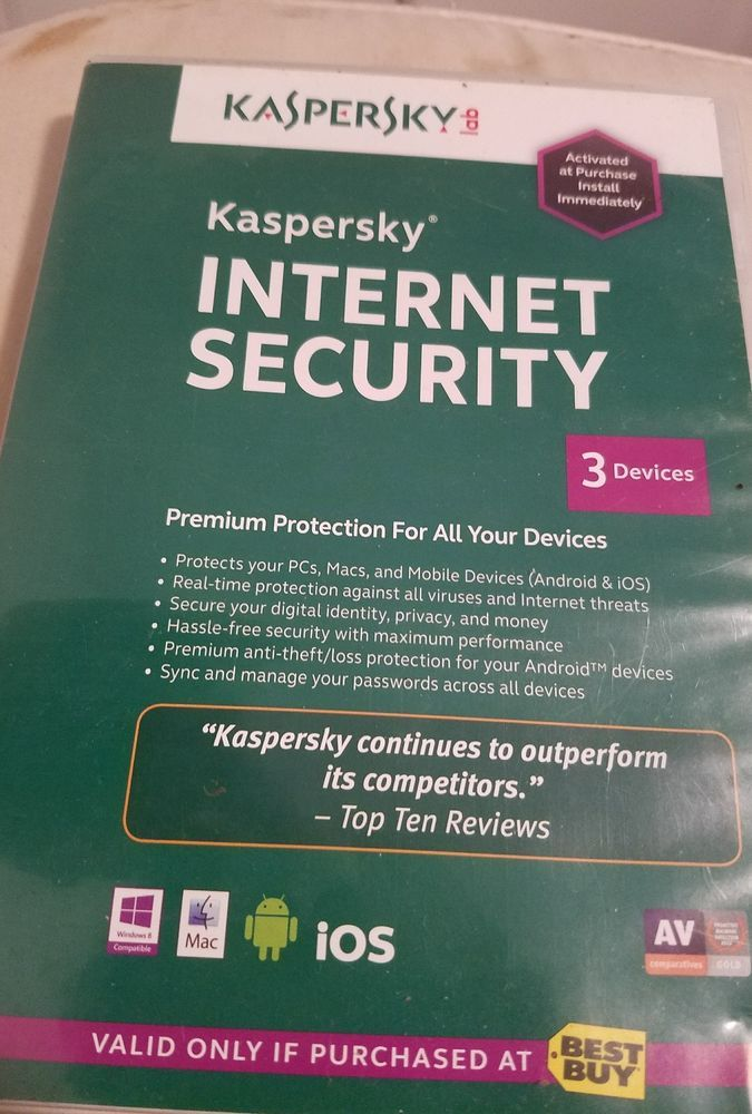 Kaspersky Lab Internet Security 3 Devices  | Computers/Tablets & Networking, Software, Antivirus & Security | eBay!