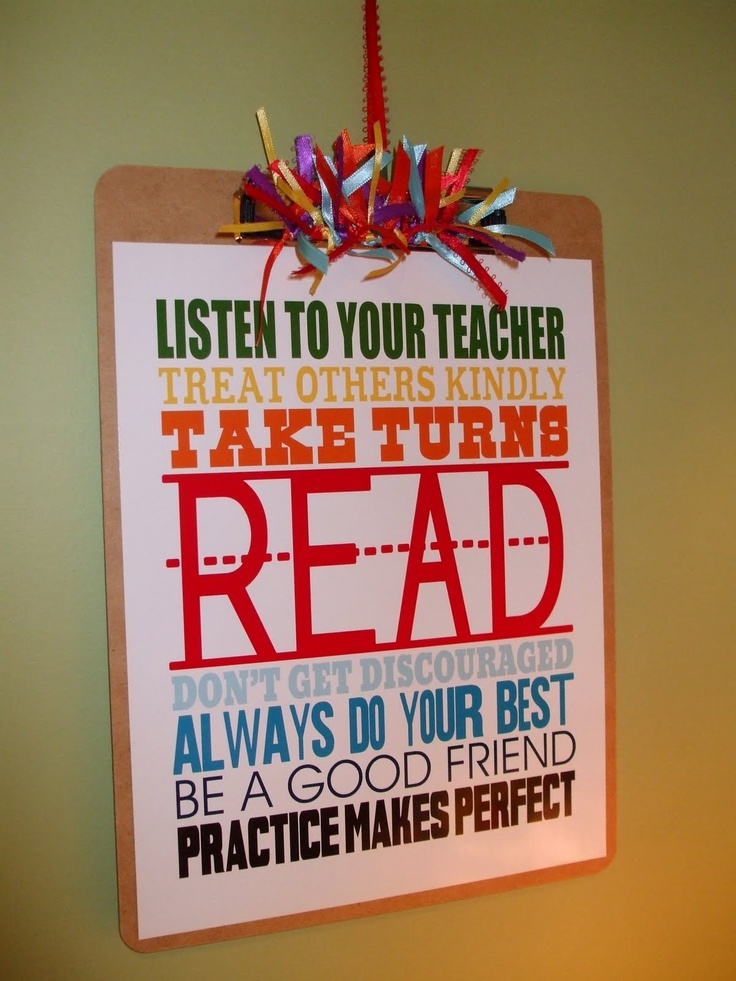 What a cute sign for a teacher gift!