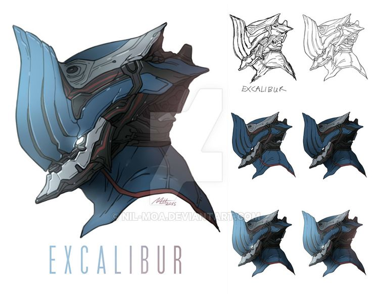 Warframe - Excalibur Mordred by Nil-Moa