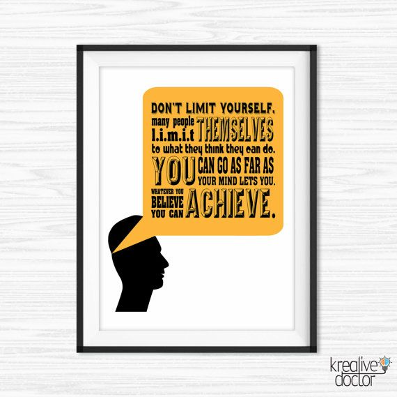 Motivational Wall Decor Office Wall Art by KreativeDoctor on Etsy