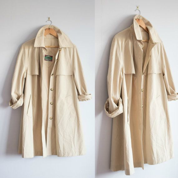 vintage trench coat  by Thriftionary #trending #classic #trench