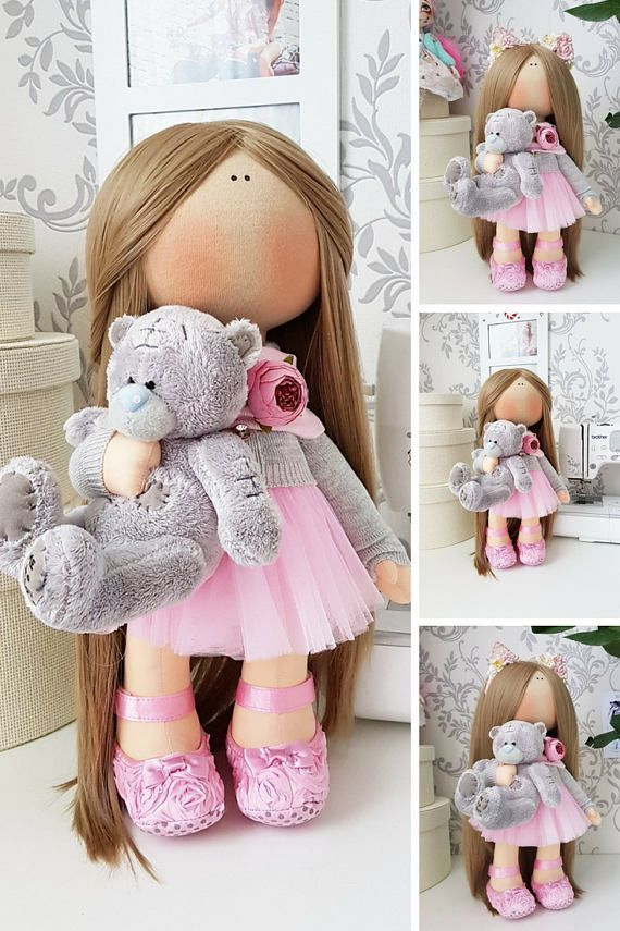 Tilda doll Cloth doll Handmade doll Panenka Muñecas Pink doll
