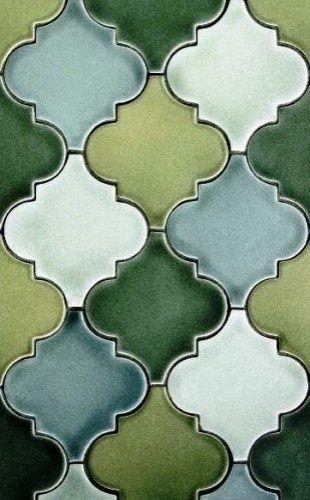 groene tegels en aparte vormen