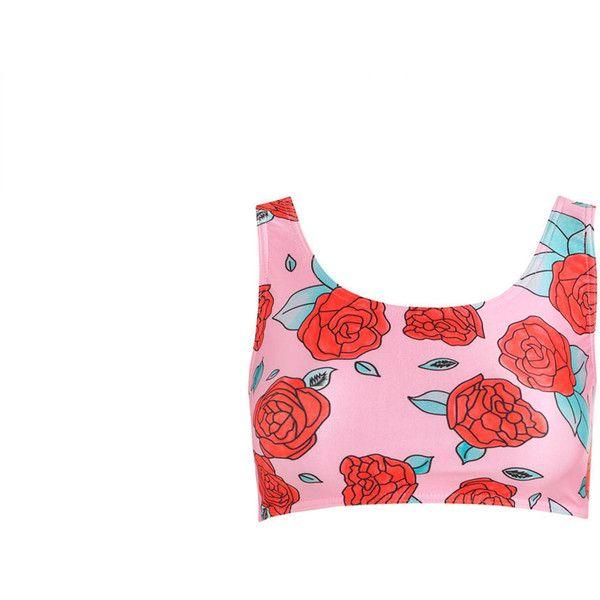 Roses Crop Bikini Top Womens Swimsuit Sports Tumblr Hipster Grunge 90s... ($23) ❤ liked on Polyvore featuring swimwear, bikinis, bikini tops, silver, women's clothing, swimsuits bikinis, bathing suits bikini, swim tops, tankini swim tops and boho bathing suits