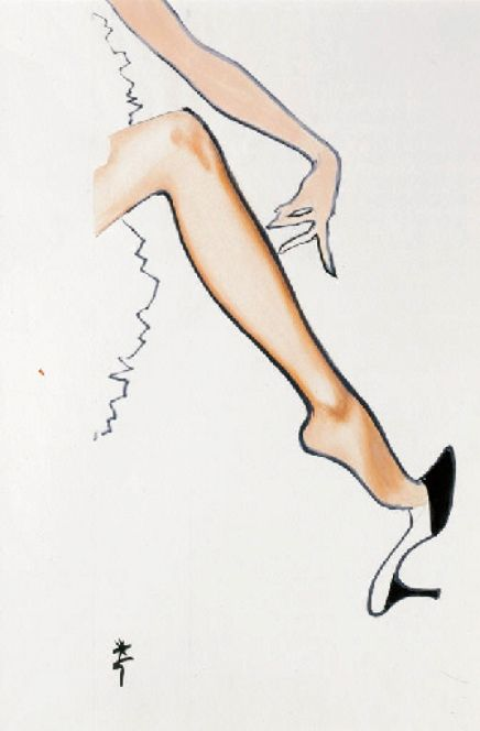 Rene Gruau  For Vito's Stockings  1960s