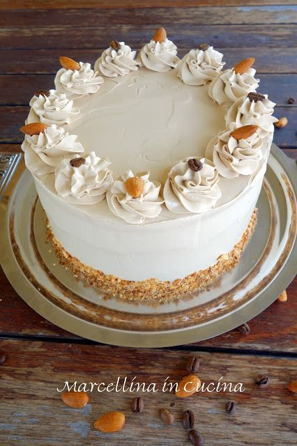 Marcellina in Cucina: Vanilla Layer Cake with Almond Filling and Coffee ...