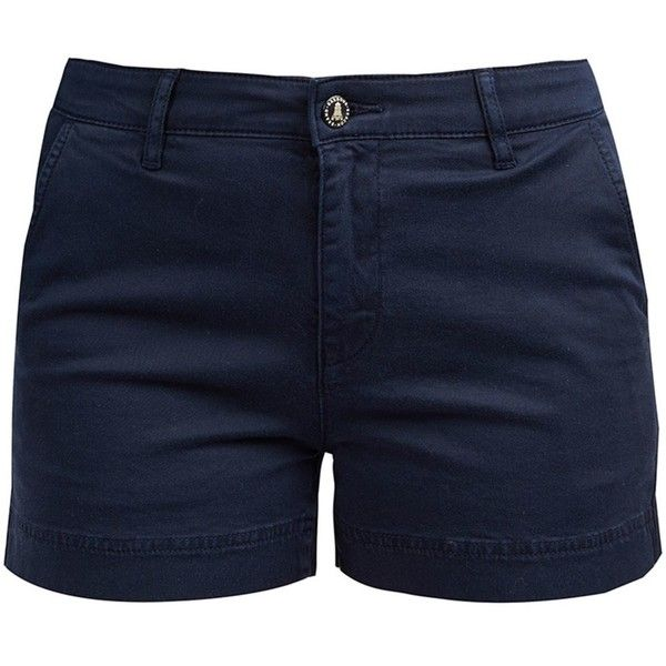 Women's Barbour Harewood Shorts - Navy ($87) ❤ liked on Polyvore featuring shorts, barbour, pocket shorts, navy oxfords, navy blue oxfords and navy shorts