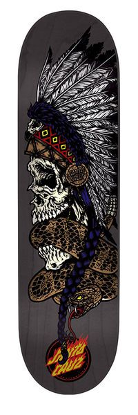 Santa Cruz Skateboards: Decks: 8.0in x 31.6in Headdress Deck