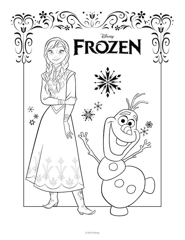 coloring pages of frozen games - photo#19
