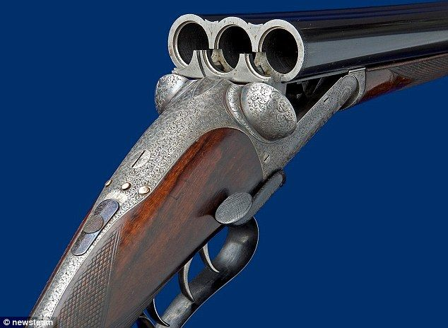 Triple trigger: Edinburgh-made gun, just sold at auction for £43,000, makes it possible to shoot three game birds with one shot