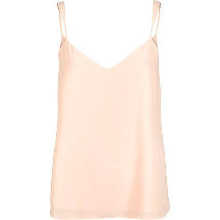 Light pink V-neck cami £16.00