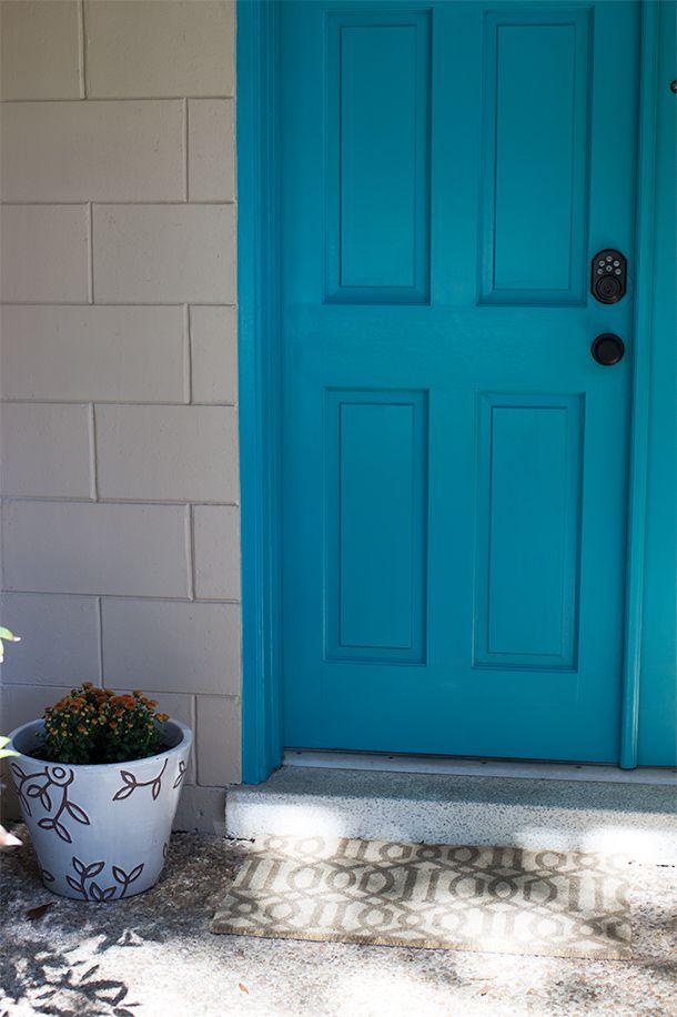 23 best images about front door aqua paint colors on for Teal front door