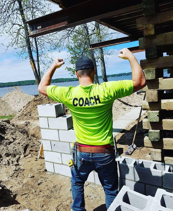Put me in coach #fbf #georgianbay #raisedcottage #block #blocks #foundations #mason #masonry #masonslife #construction #entrepreneur #businessowner #homebuilder #customhome #custombuilder #winterconstruction #constructionworker