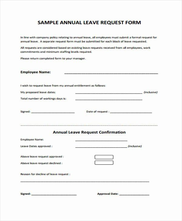 Leave Request Form Template Luxury Doc Leave Request Form Sample Leave Forms Template Resume Template Free Business Card Template Psd Sample Resume