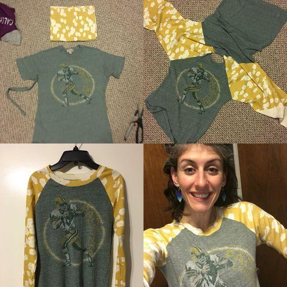 DIY Clothing & Tutorials: Переделка футболки в тишотку (Diy)