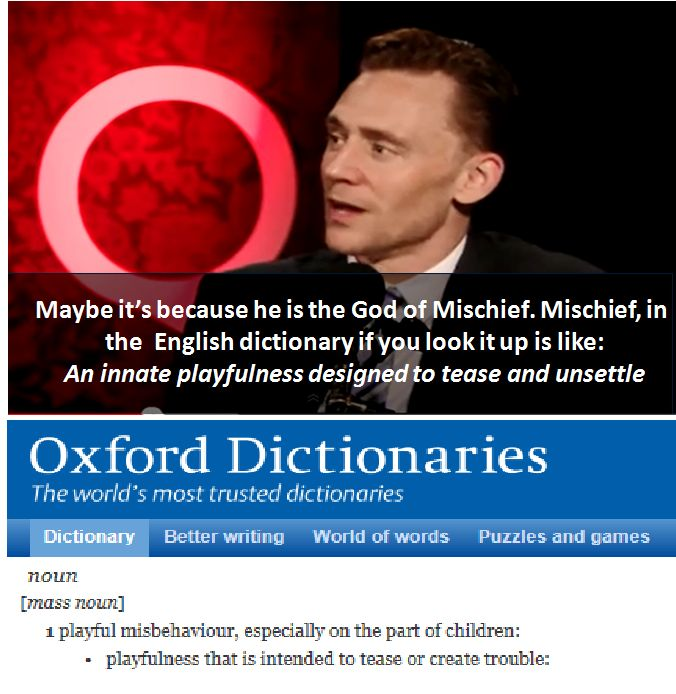 When the man literally remembers the Oxford dictionary...