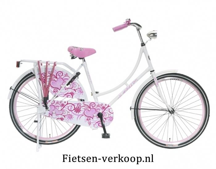 Omafiets Wit 24 Inch | bestel gemakkelijk online op Fietsen-verkoop.nl
