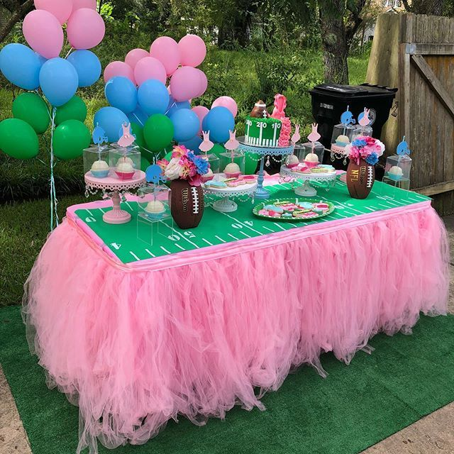Gender Reveal Ideas Events By Jharden Llc On Instagram How Cute Is This Tutu Gender Reveal Party Decorations Gender Reveal Decorations Tutus Gender Reveal