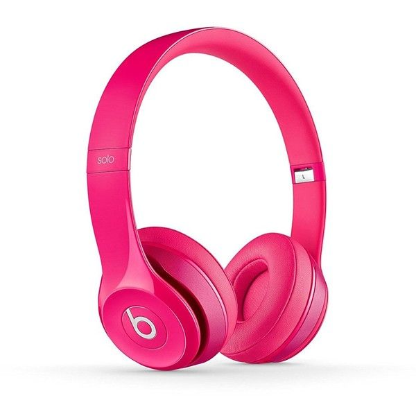 Beats Solo2 Wired On-Ear Headphone Pink (£105) ❤ liked on Polyvore featuring accessories, tech accessories and pink headphones