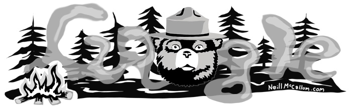 """August 9th, 1944 - The United States Forest Service begins putting up posters of """"Smokey the Bear"""" to raise awareness and prevent forest fires."""