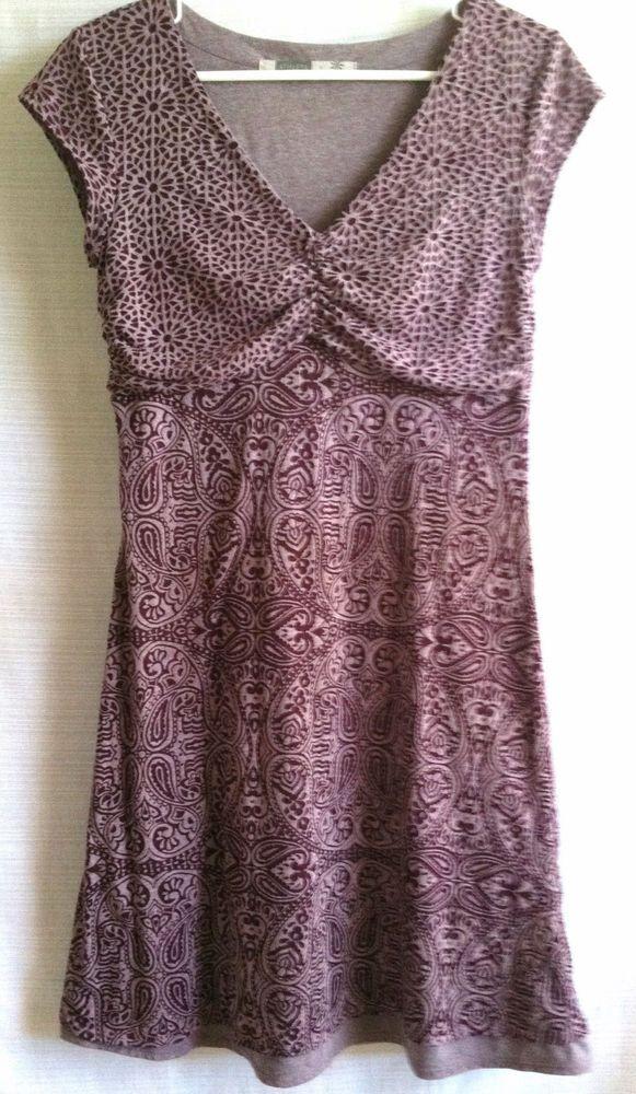 Athleta Dhara Burnout Dress  Purple Paisley Print  Cap Sleeve Size S Small  #Athleta #DharaStyle835929 #Casual