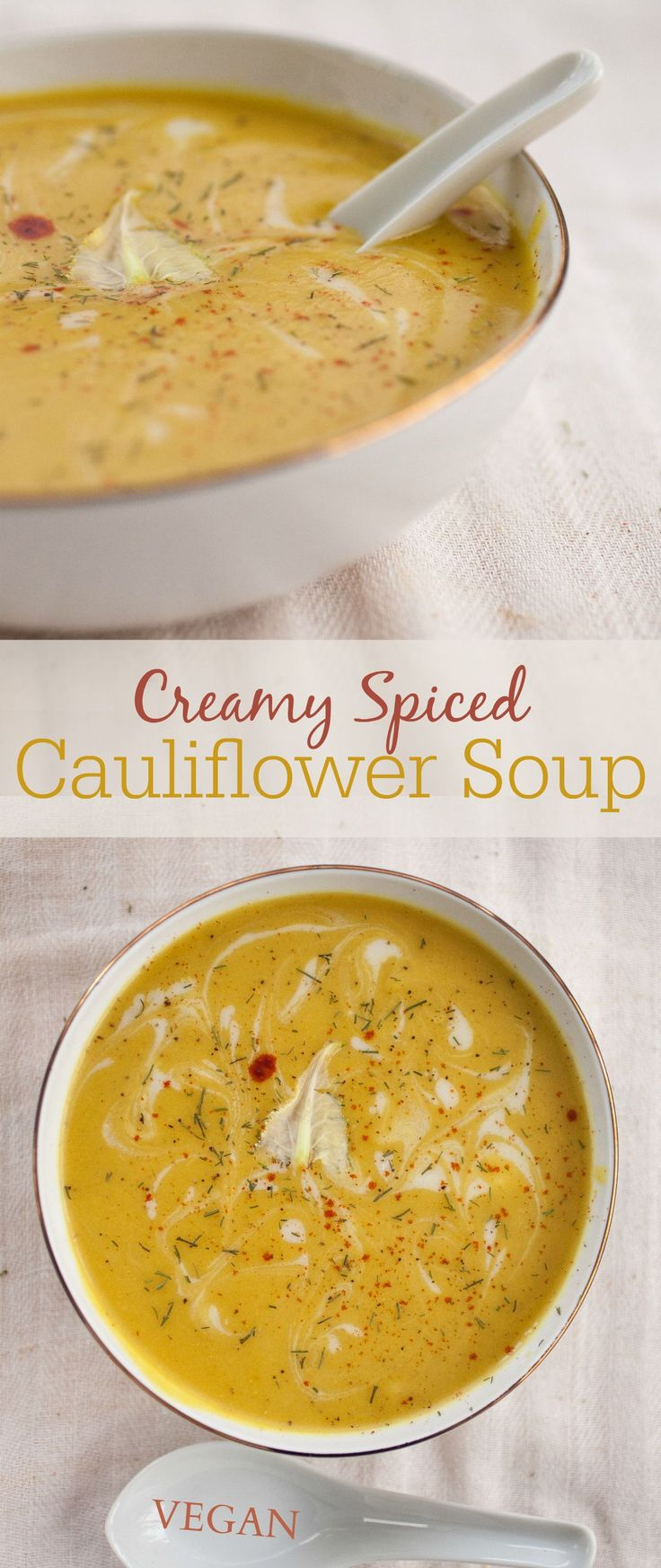 This coconut-creamed cauliflower soup is infused with aromatic spices like cumin, coriander, and turmeric. So good, it's the only cauliflower soup you'll ever want to make.