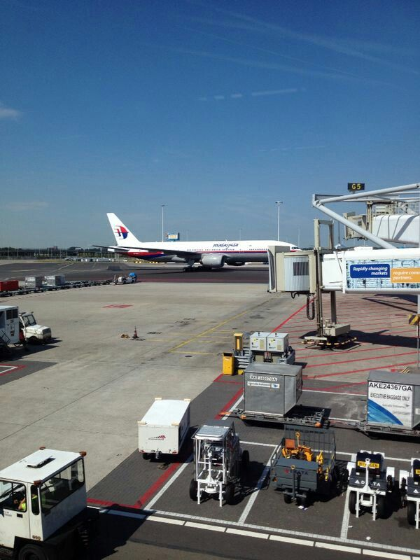 A Malaysian Airlines plane @ Schipol