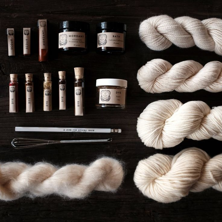 Dye Kit for Knitters - NEW! #dyeing #kits #knitting #natural-dyeing