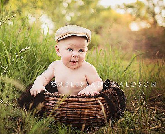 Newborn Props Newsboy Hat Baby Boy Hat Golf by CottonBabyBonnets ... d3ba4aea9b7