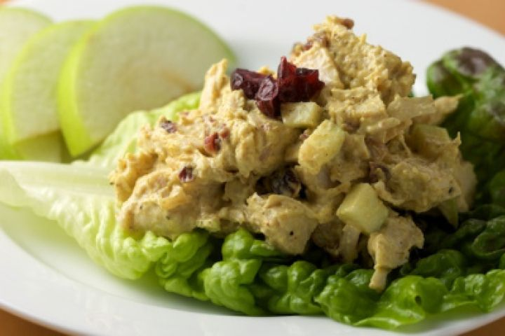 Curried Turkey Salad with Apples, Cranberries and Walnuts Recipe