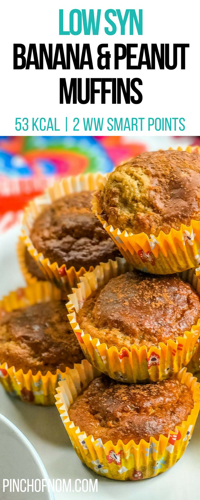 Low Syn Banana and Peanut Muffins | Pinch Of Nom Slimming World Recipes 53 kcal | 1.5 Syns | 2 Weight Watchers Smart Points