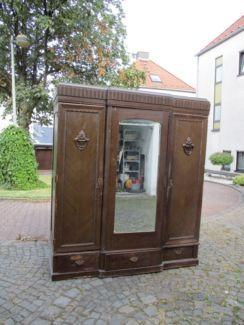 Fabulous Alter Antiker Kleiderschrank Spiegelschrank Massivholz v in Nordrhein Westfalen Wetter