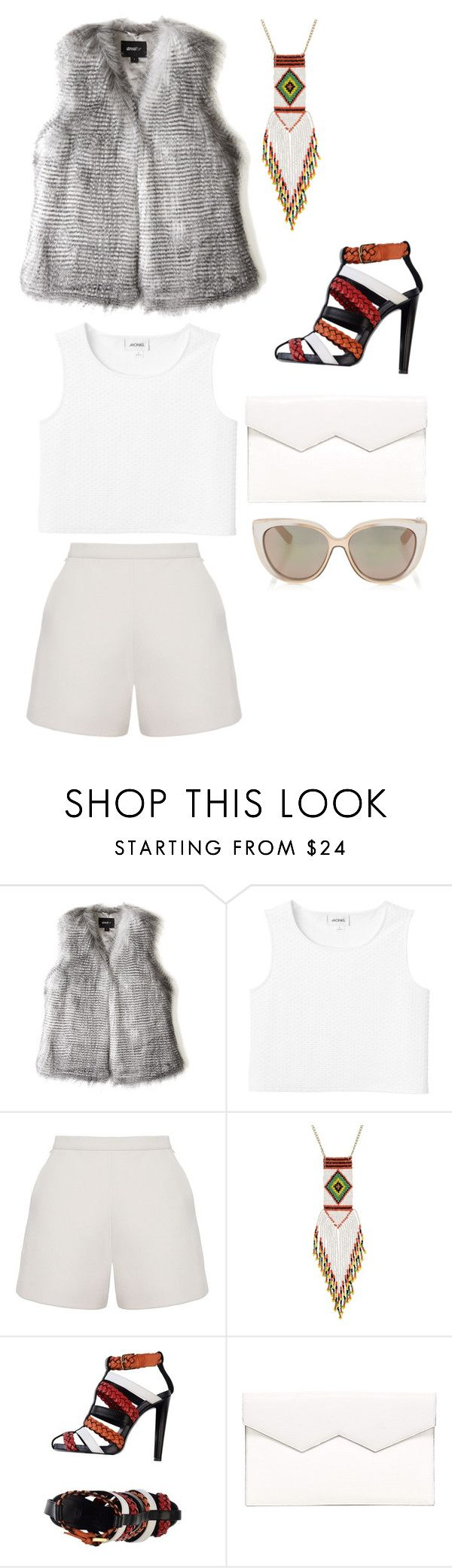 """Untitled #10313"" by beatrizibelo ❤ liked on Polyvore featuring Unreal Fur, Monki, Ruban, George J. Love, Vionnet, Fabiola Pedrazzini and Jimmy Choo"