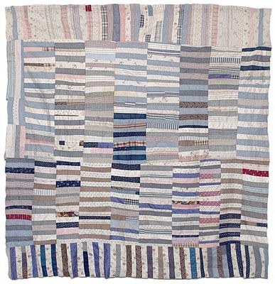Early 20th century strippy Bars quilt top from back east. I love the movement and the subtle colours in this, I could look at it for hours!