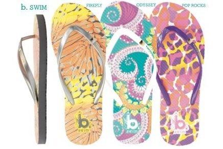 B. Swim Prints on Cobian Sandals
