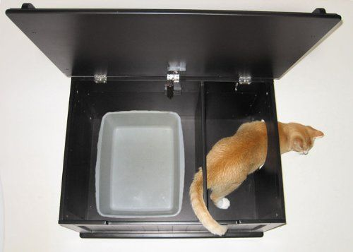 Wondering if I could build these window seats with litter boxes hid inside???   An interior panel and staggered entrance prevents litter from being kicked onto the floor. Outer hole can be set up on right or left, so that you can keep it hidden from guests. Hydraulic safety hinge holds lid up for easy cleaning.  Amazon.com: Designer Catbox Litter Box Enclosure in Black: Pet Supplies