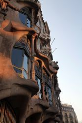 Casa Batlló: The building was designed by Gaudí for Josep Batlló, a wealthy aristocrat, as an home. Gaudí used colours and shapes found in marine life as inspiration for his creativity in this building e.g. the colours chosen for the façade are those found in natural coral.