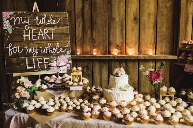 'my whole heart for my whole life' wedding sign / Brett and Jessica Photography