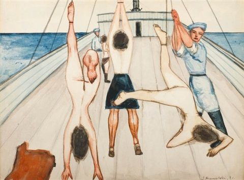 Jerzy Nowosielski - Kobiety na statku, 1951