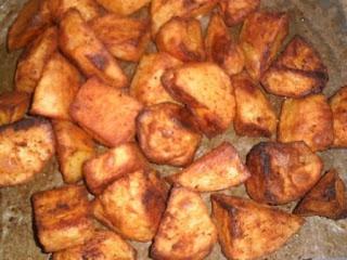 Geroosterde paprika-knoflook-aardappelen