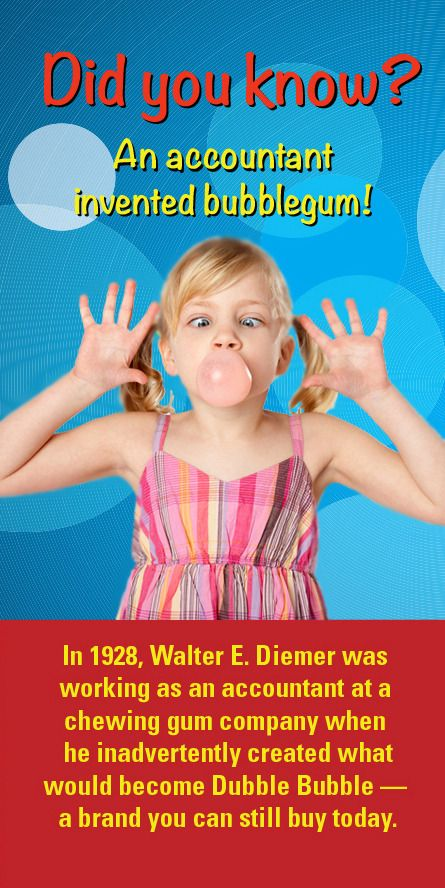 Did you know an accountant invented bubble gum? Guess which brand? #accounting #CPA