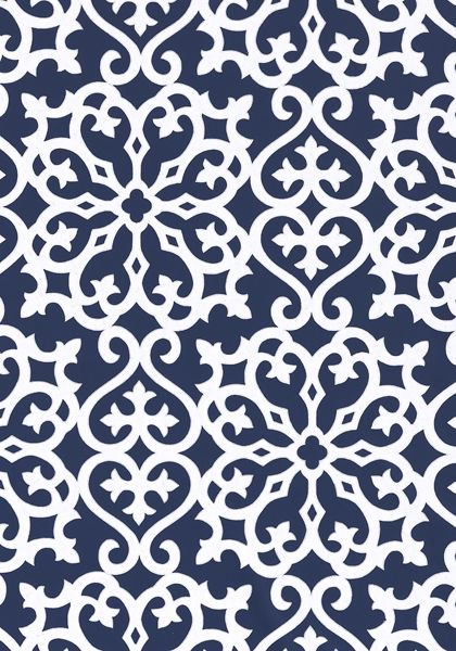 Allison #wallpaper in #navy from the Geometric Resource collection. #Thibaut
