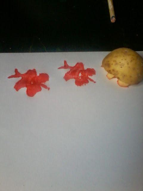 skapa, lek och lär: Potatistryck