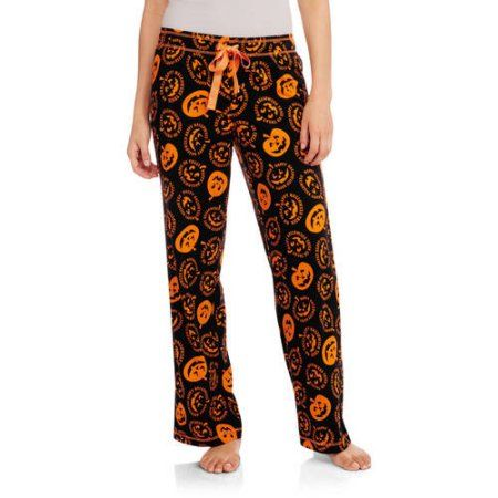 Secret Treasures Women's Pajama Halloween Jersey Sleep Pants (Sizes S-3X), Black