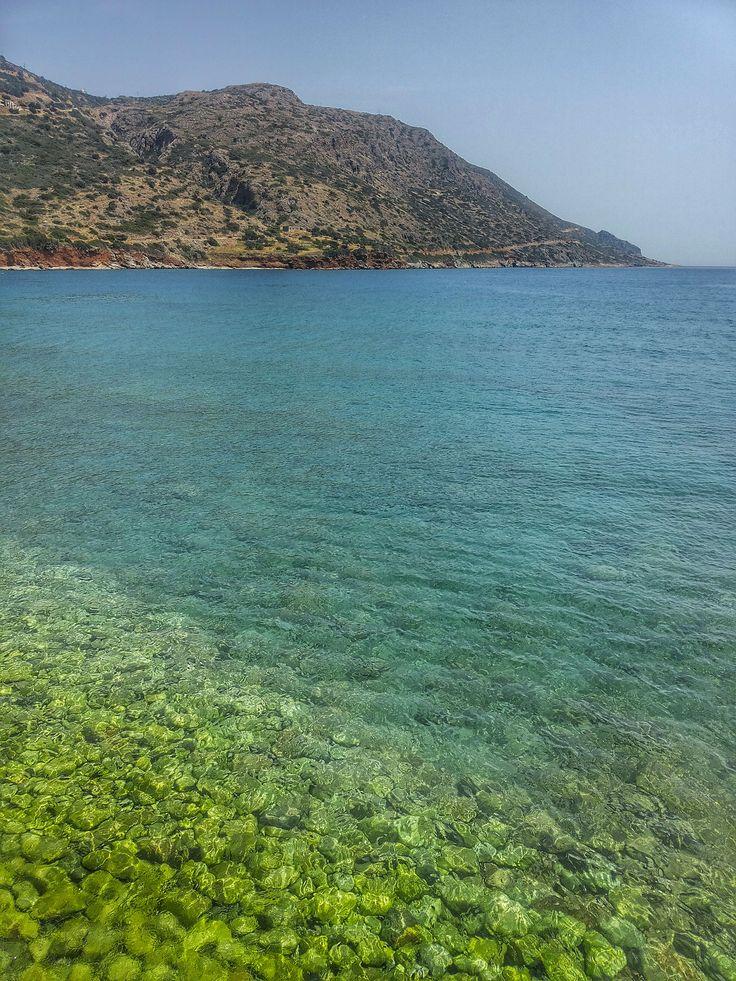 Plaka beach in Crete, Greece