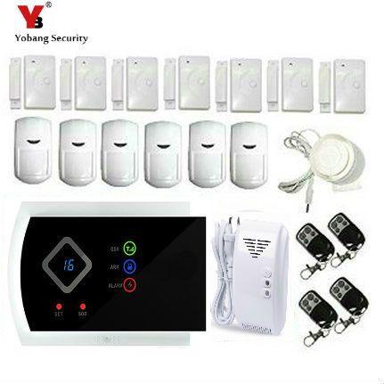 YobangSecurity Wireless GSM SMS Home Burglar House Smoke Detectors Fire Alarm System Auto Dialer Russian Spanish Italian Slovak