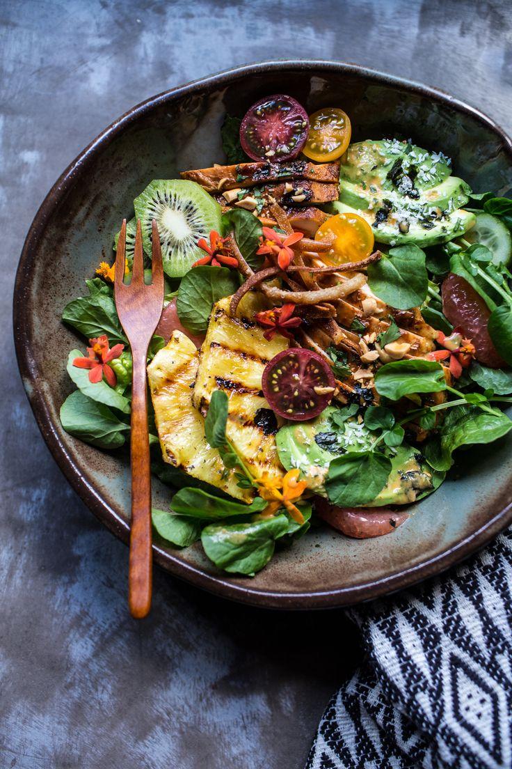 Hawaiian Tequila Chicken Salad With Pineapple Vinaigrette | halfbakedharvest.com @hbharvest