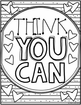 Growth Mindset Colouring Posters {Color Create Motivate