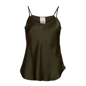"""SUST SILK Elegant camisole, army.  Exclusive and simple camisole. The camisole has adjustable straps and is super soft. Limited. Made from 100% silk in """"dead stock"""", which means that it's made from residues from other collections. Because of that, the camisole is limited."""