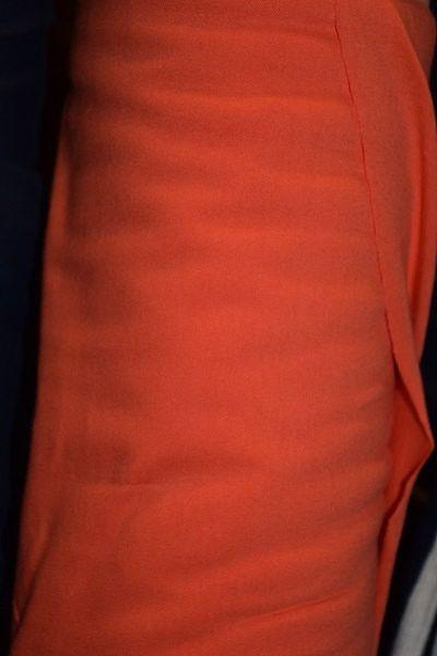 Pumpkin Cotton Lycra Fabric (by the yard)